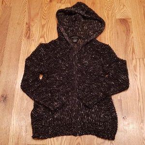 EUC BCBG loose knit zip up hoodie
